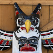 Stock Photo: Totem wood pole detail