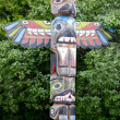 Stock Photo: Totem wood pole
