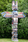 A totem wood pole — Stock Photo