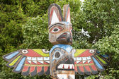 Indian totem wood pole — 图库照片