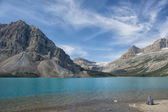Bow Lake Icefield highway view — Stok fotoğraf