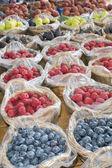 Organic Fruit and vegetable: soft fruit — Stock Photo