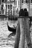 Venice view in black and white — Стоковое фото