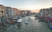 Venice sunset view from rialto — Stockfoto