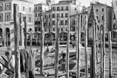 Venice view in black and white — Photo