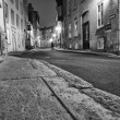 Quebec city night view in black and white — Stock Photo