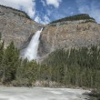 Yoho falls on cloudy sky — Stock Photo