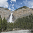 Stock Photo: Yoho falls on cloudy sky