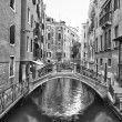 Stock Photo: Venice view of canals bw