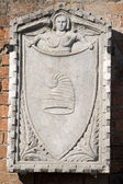 Medieveal bas relief Burano Venice — Stock Photo