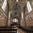 Assisi Dome Saint Francis Church interior view — Stock Photo