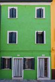 Coloridas casas de burano venecia — Foto de Stock