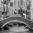 Stock Photo: Venice canals in black and white
