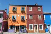 Colorful houses of Burano Venice — Stock Photo