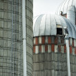 Grain metallic silo — Stock Photo