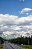 Canada Rocky Mountains Panorama — Stock Photo