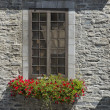 Quebec city stone house — Stock Photo