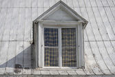 Old american house dormer — Stock Photo