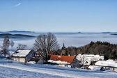 Bavarian village in winter — Stockfoto