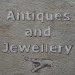 Stock Photo: Antiques and jewellery sign