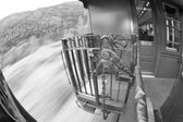 Yukon Gold Rush old Train wood and iron bridge — ストック写真