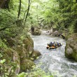 Rafting on a river — Stock Photo
