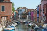 Casas coloridas de burano veneza — Foto Stock