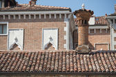 Venice brick roofs — Stock Photo