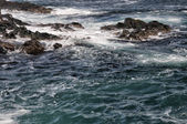 Sea in tempest on rocks — Stock Photo