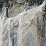 Fishing net hanging for drying — Stock Photo #36688967