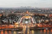 Paris tour eiffel view after sunset — Stock fotografie