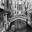 Stock Photo: Venice view in black and white
