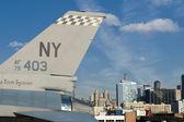 New York Manhattan view from Intrepid Bridge — Foto Stock