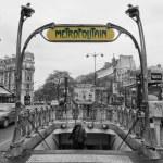 Paris Metro Metropolitain Sign Pere Lechese Cemetery — Stock Photo