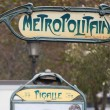 Paris Metro Metropolitain Sign Pigalle — Stock Photo
