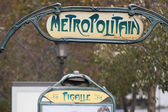 Paris Metro Metropolitain Sign Pigalle — ストック写真