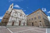 Pienza Tuscany medieval dome — ストック写真