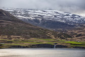 Akureyri Iceland coastal view — Stock Photo