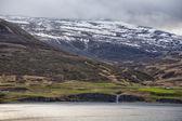 Akureyri Iceland coastal view — Foto Stock
