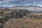 Pingvellir Iceland earth fracture landscape — Stock Photo
