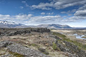 Pingvellir Iceland earth fracture landscape — Stock Photo