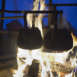 Cooking on the campfire — Stock Photo #38374053