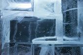 Ice blocks wall — Stock Photo