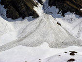 Avalanche snow slide — Stock Photo