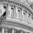 Washington DC Capitol detail in B&W — Stock Photo