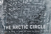 The Arctic circle ice blocks wall — Stock Photo