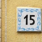 Ceramic number tile — Stok fotoğraf #39745081