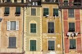 Portofino pintado casas — Fotografia Stock