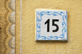 Ceramic number tile — Stock Photo