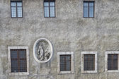 Rome bas relief on building — Stock Photo